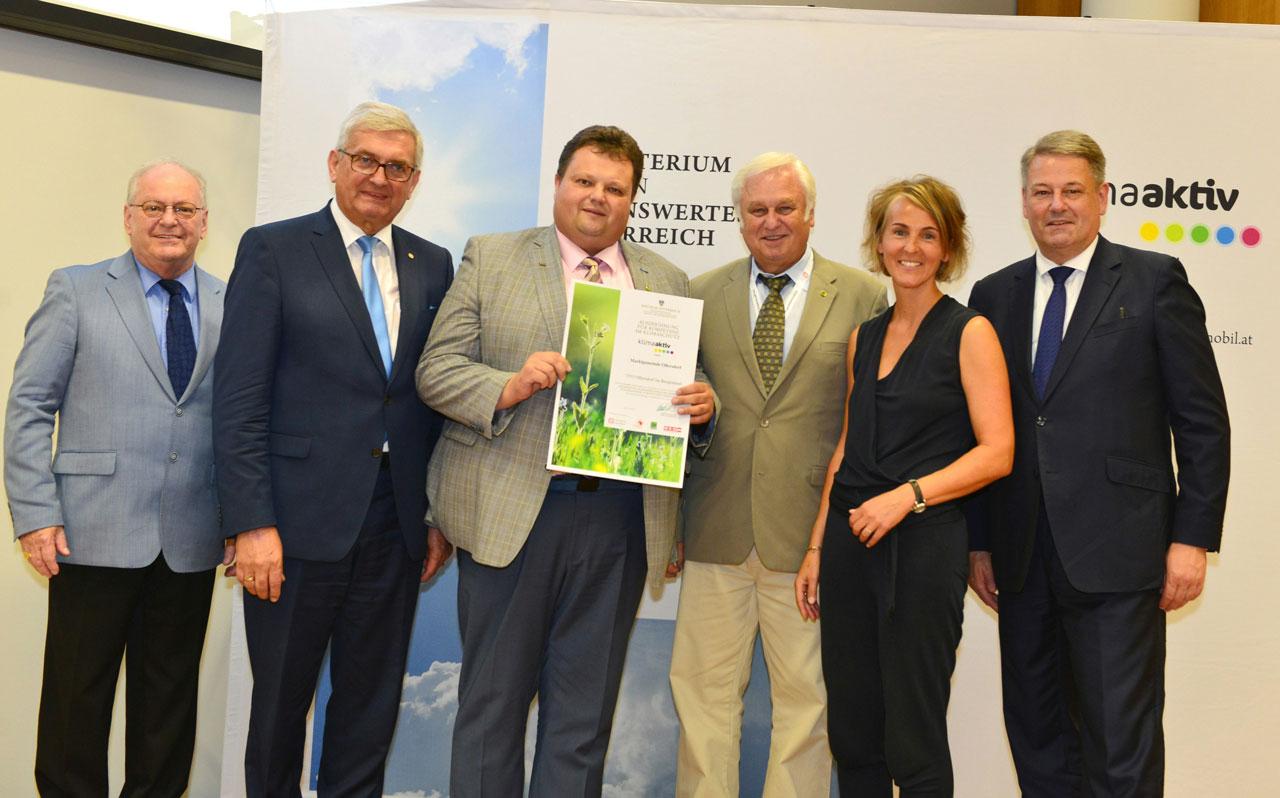 Klimaschutz-Auszeichnung für Ollersdorf i. Bgld.