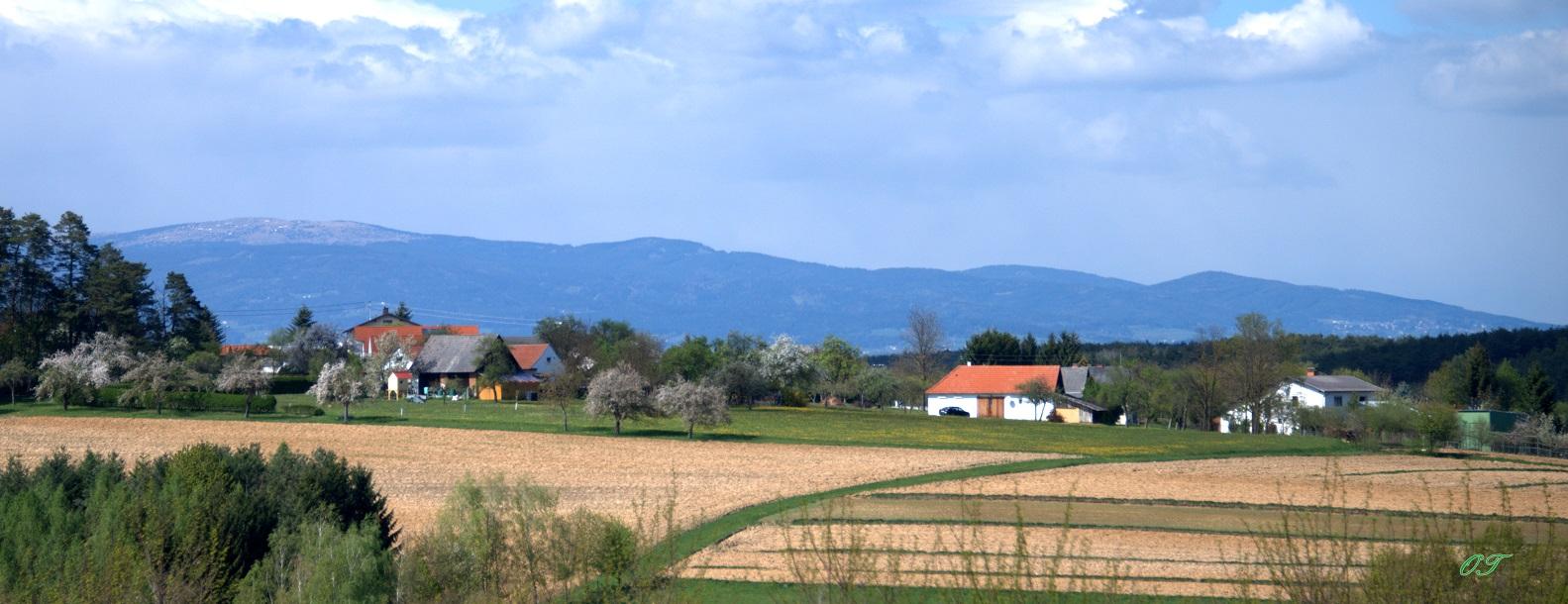 2014 Ollersdorf Aufblick von Therme Stegersbach