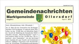 Titelblatt des Rundschreibens 2 von 2019 Ollersdorf im Burgenland