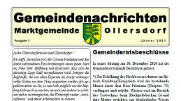 Vorschaubild Gemeindenachrichten 1/21 Ollersdorf